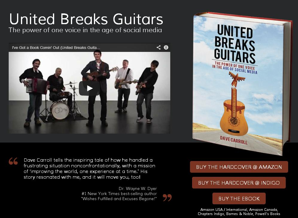 Libro de Dave Carroll. United breaks guitars. Esmeralda Diaz-Aroca