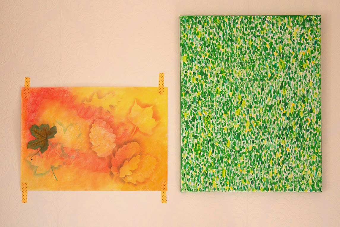 two paintings of nature