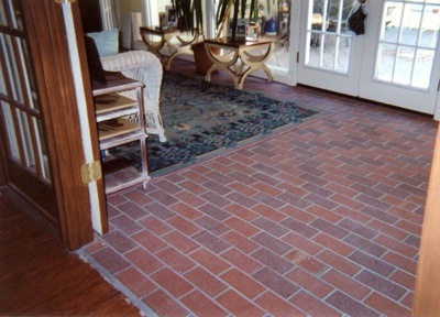 Brick laminate picture brick floor tile for Brick veneer floor