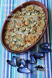 taieddhra riso, cozze, patate e spugnole con trito aromatico.