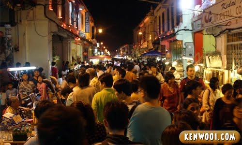 malacca jonker walk night