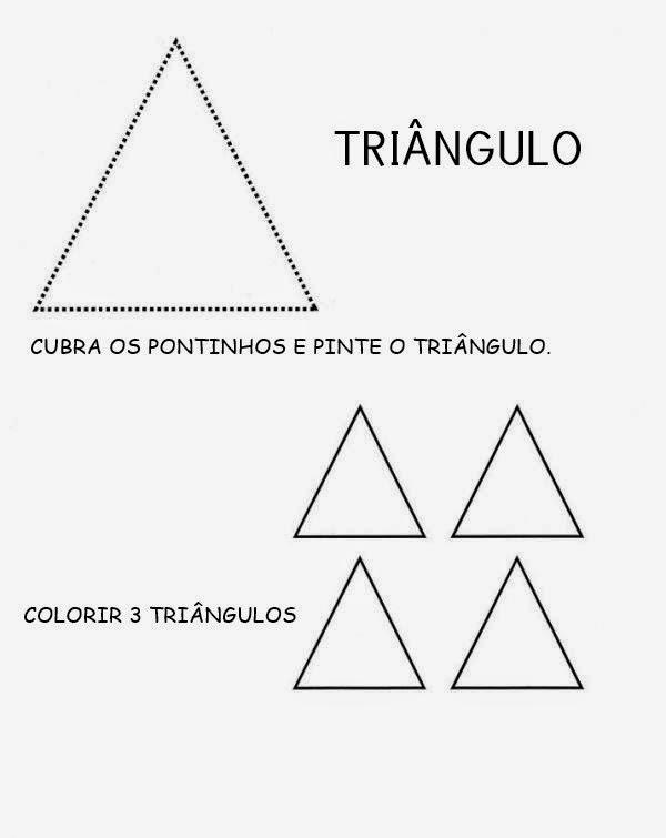 ATIVIDADE COM TRIÂNGULO DESENHAR FORMA GEOMÉTRICA