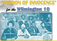 Movie poster includes photo of the Wilmington 10 with their names