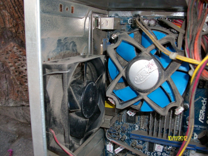 CPU berdebu