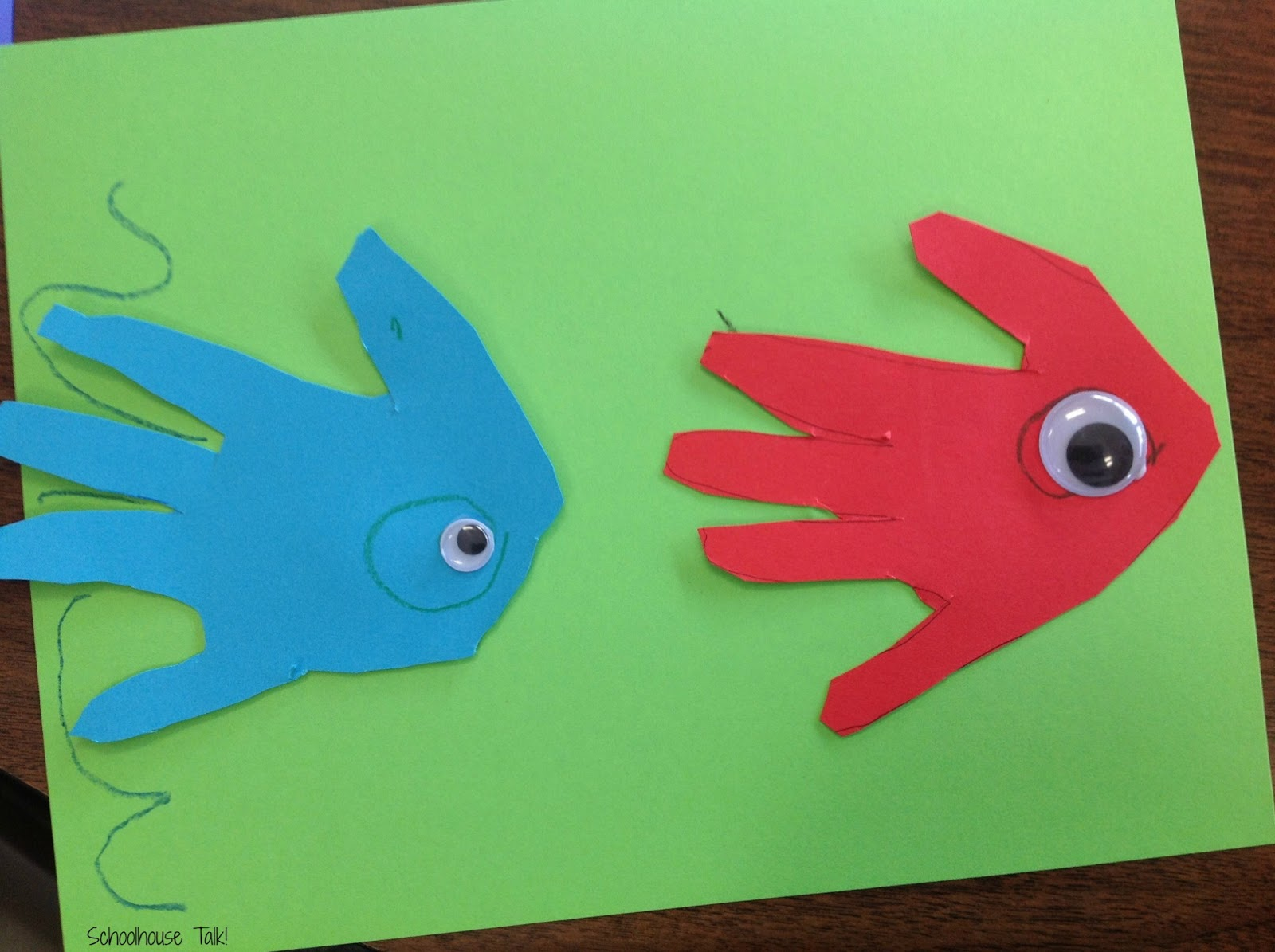 Schoolhouse talk dr seuss speech activities part 2 for One fish two fish red fish blue fish