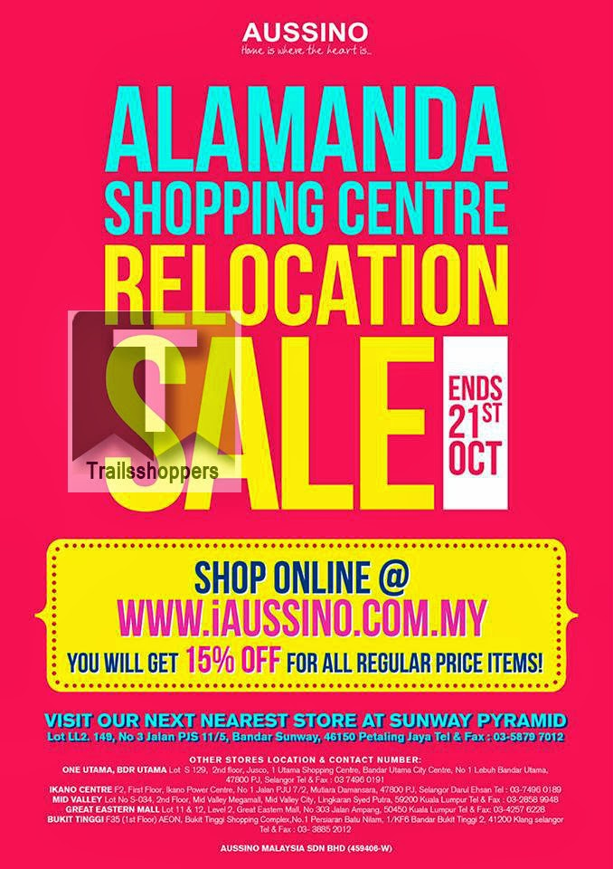 Aussino Alamanda Relocation Sale 2013