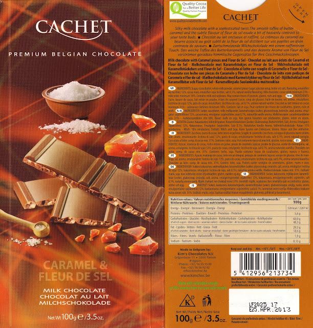 tablette de chocolat lait gourmand cachet lait caramel & fleur de sel