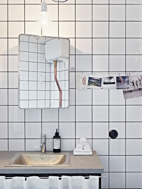Innovative Combining White Tiles And Dark Grout Is Not Only An Easy Trick To Pull Off  With White Kitchen Units And Black Appliances, Or A Clean White Bathroom Suite With
