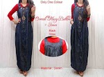 Gamis Denim + Inner SOLD OUT
