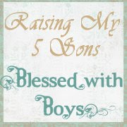 Raising my 5 sons Blessed with boys