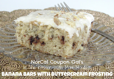 In The Kitchen With Mom Mondays – Banana bars with buttercream frosting