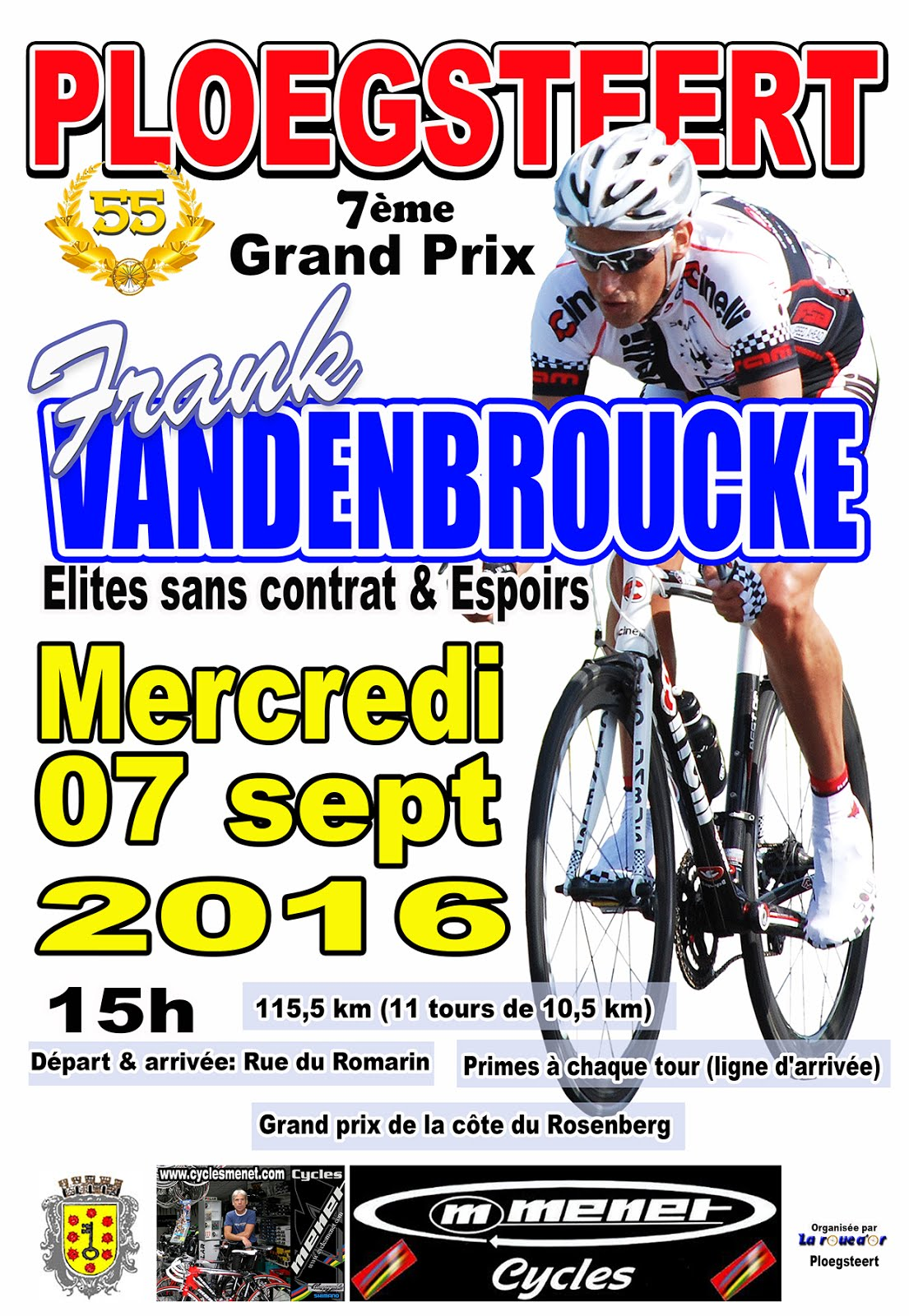 7 septembre Grand Prix Frank Vandenbroucke.