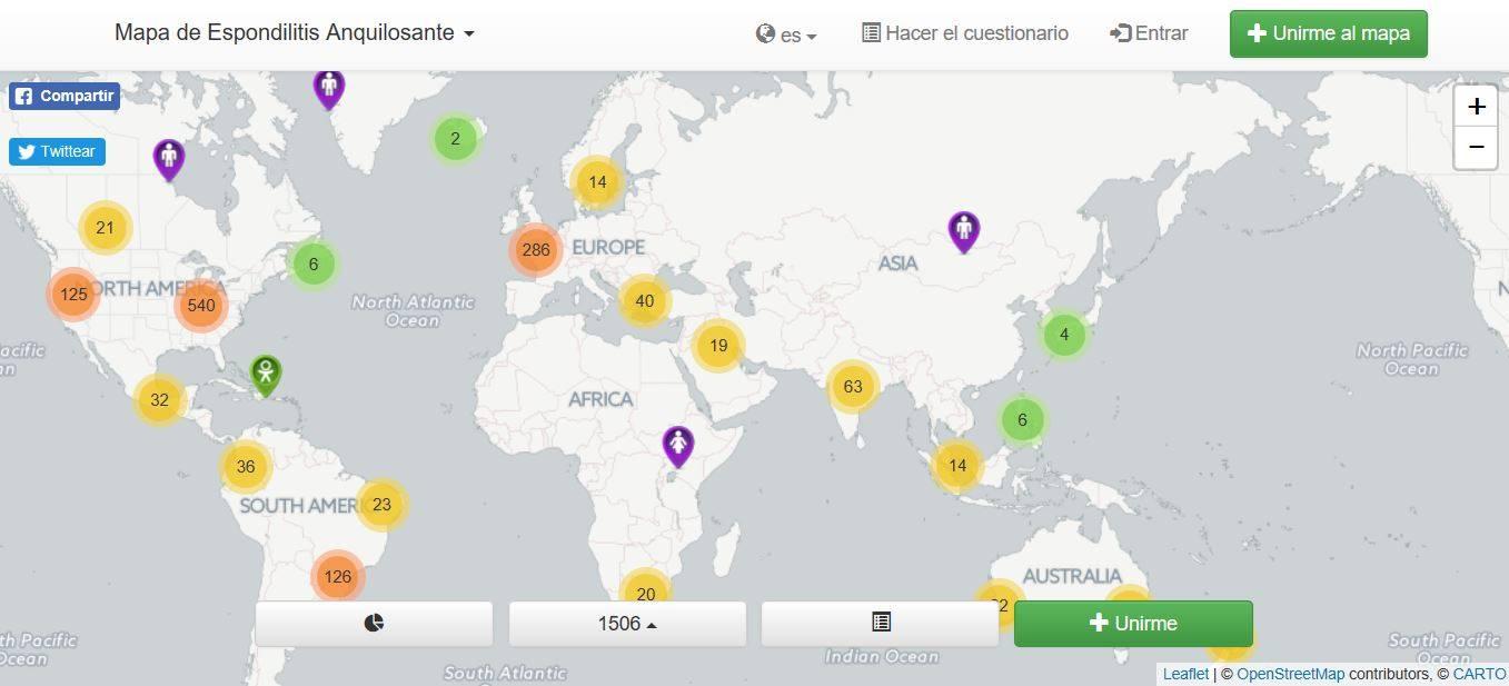 MAPAS MUNDIALES DE ENFERMEDADES RARAS (EA)