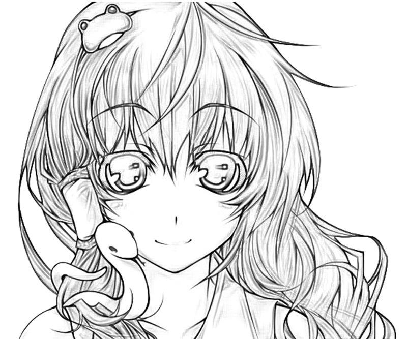 sanae-kochiya-snake-coloring-pages