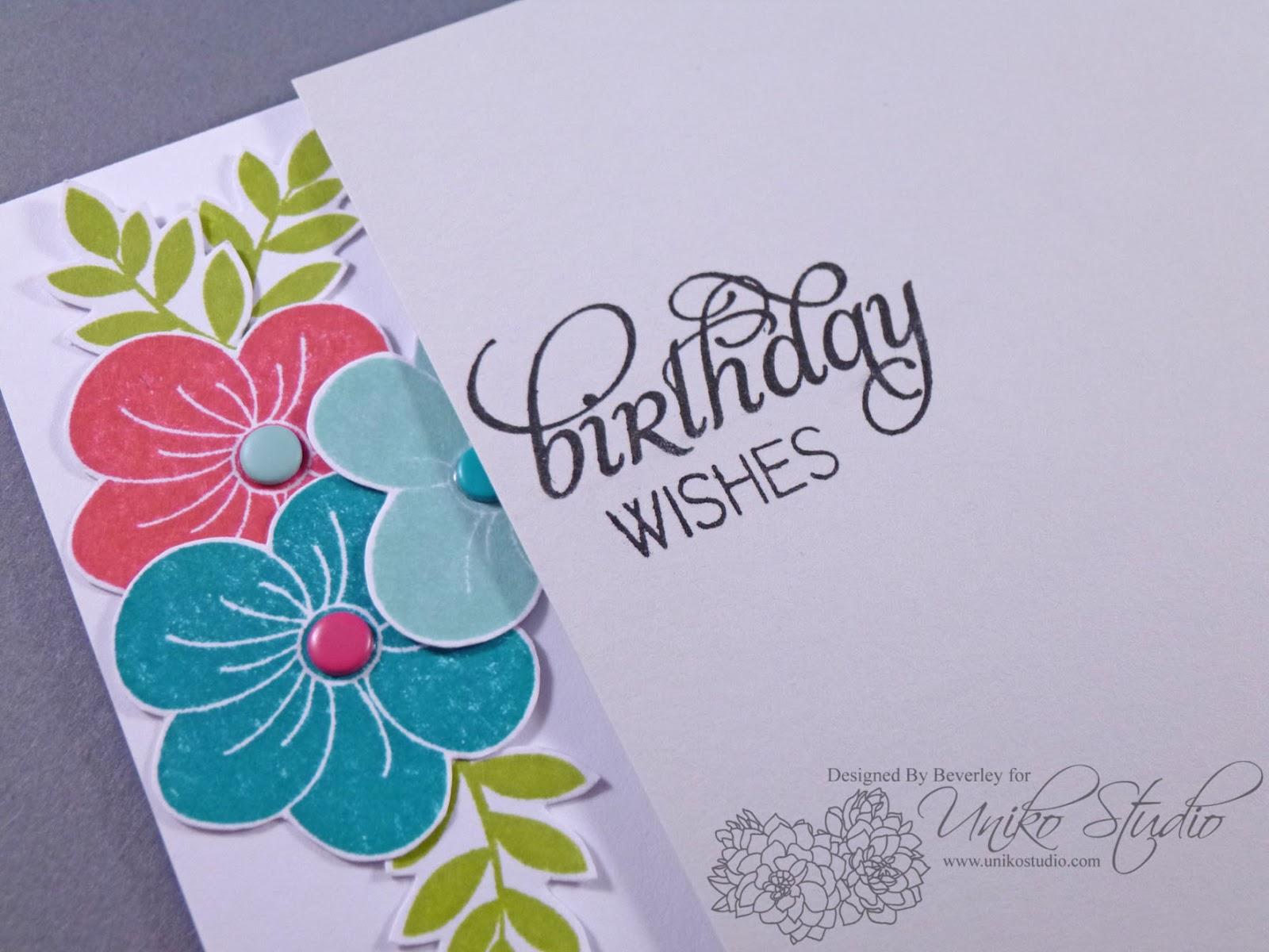 The Most Time Consuming Part Of This Card Was Fussy Cutting The Blooms And  Leaves, Otherwise This Card Was Super Simple And Quick To Assemble.