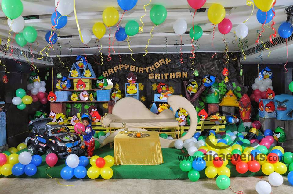 Aicaevents angry bird birthday theme decoarations for Angry birds party decoration ideas