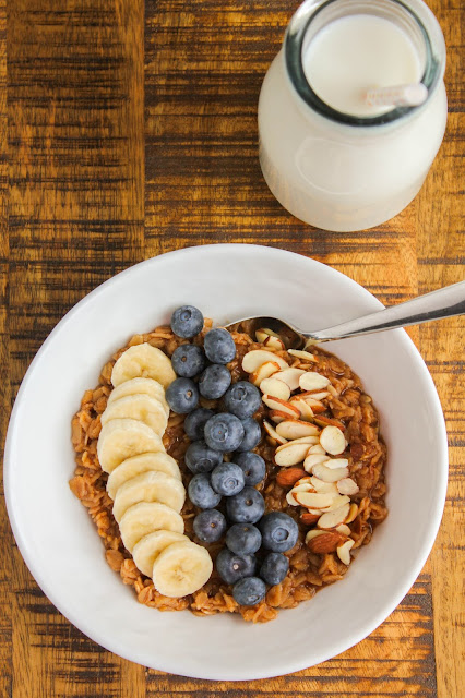 Banana Blueberry Oatmeal Bowl | The Chef Next Door