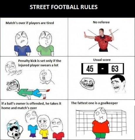 Street football rules