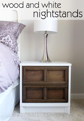 The creative imperative white and wood nightstands for White wood nightstand