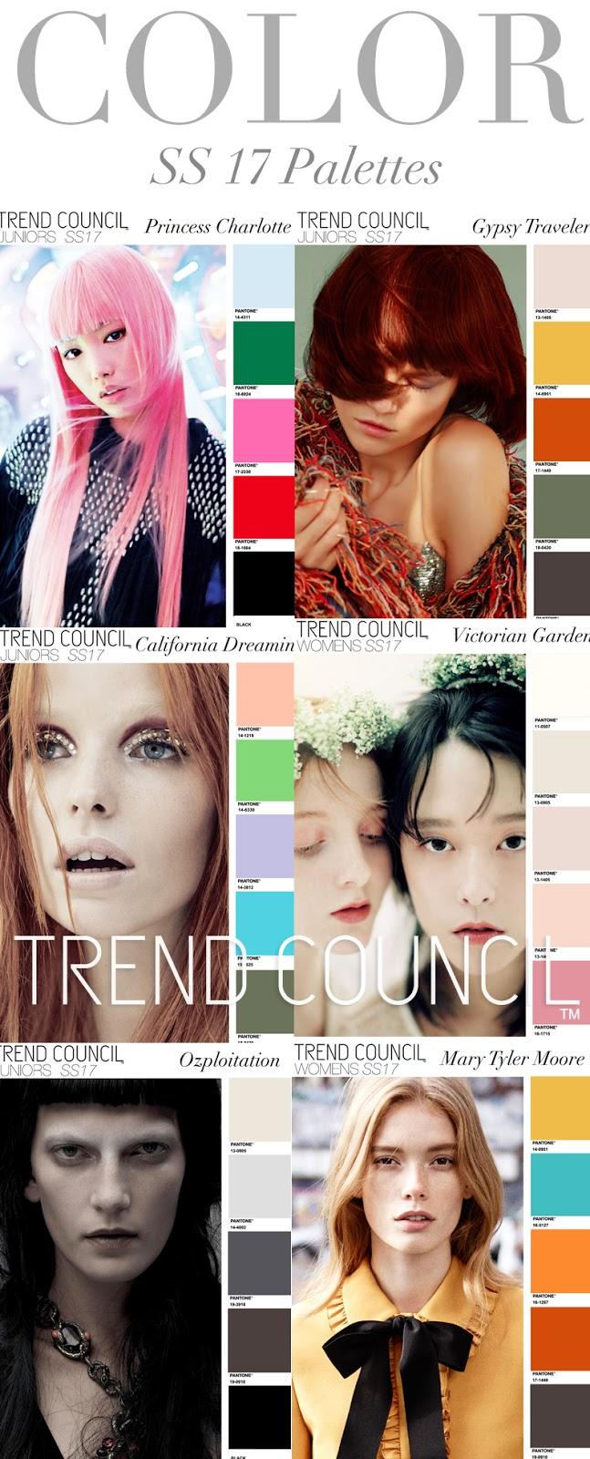 Trends Trend Council Colors Ss 2017 Fashion Vignette