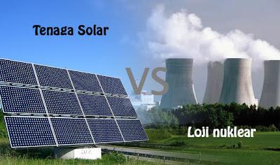 Tenaga solar vs Loji nuklear