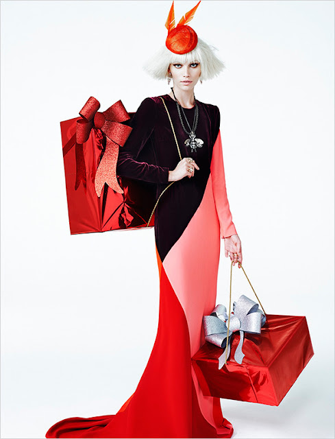 Christmas fashion editorial - Aline Weber for Vogue Brazil December 2013