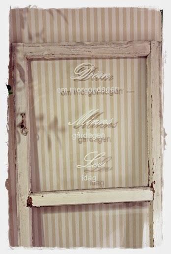 Dolce Vita - Det Ljuva Livet: Triss i tavlor! : fönster pyssel : Fönster
