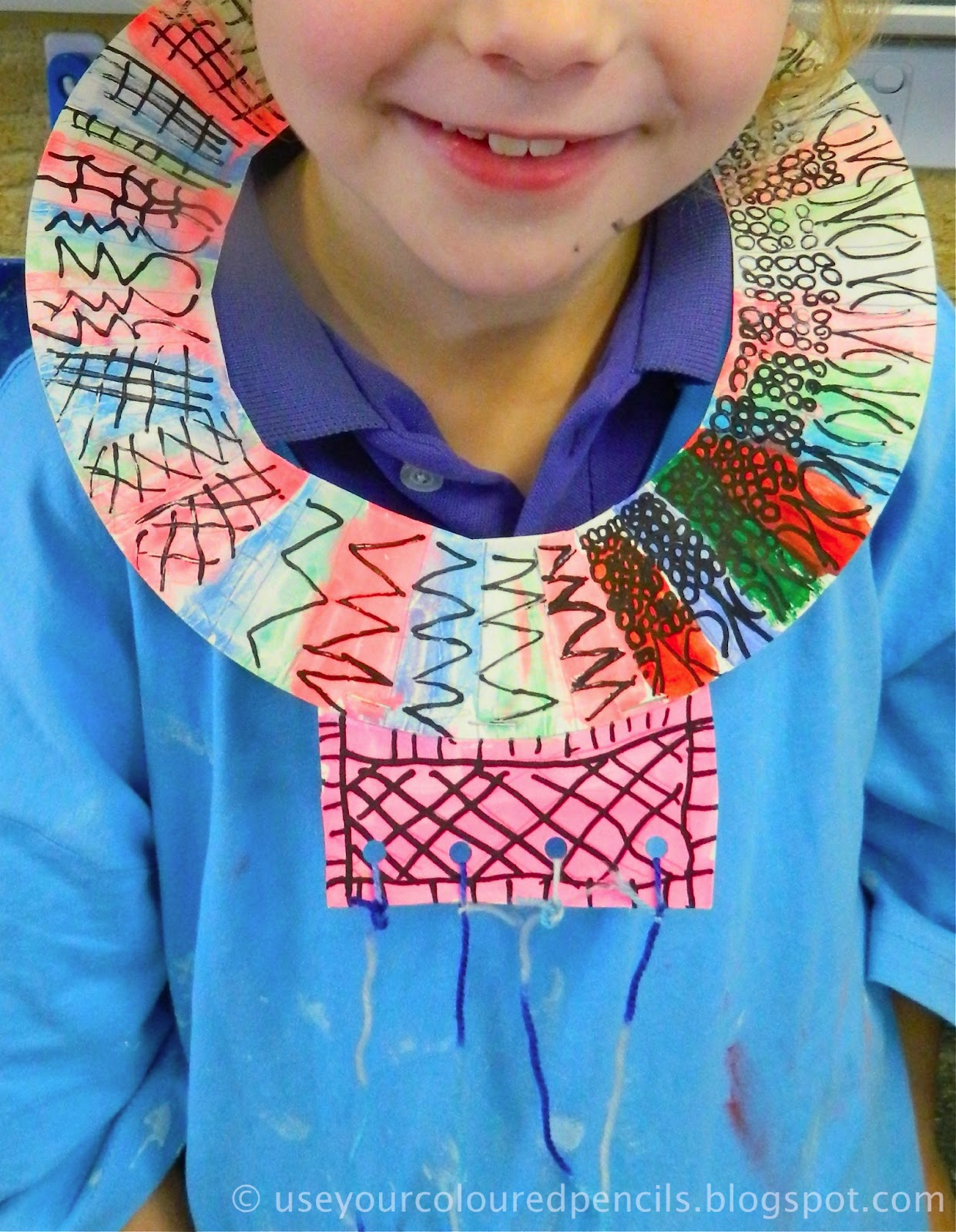 Use your coloured pencils maasai necklaces for How to make african jewelry crafts