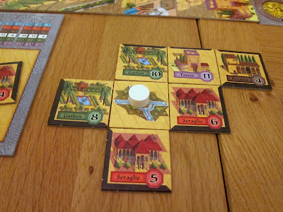 Alhambra - Crispin's Alhambra midway through the game