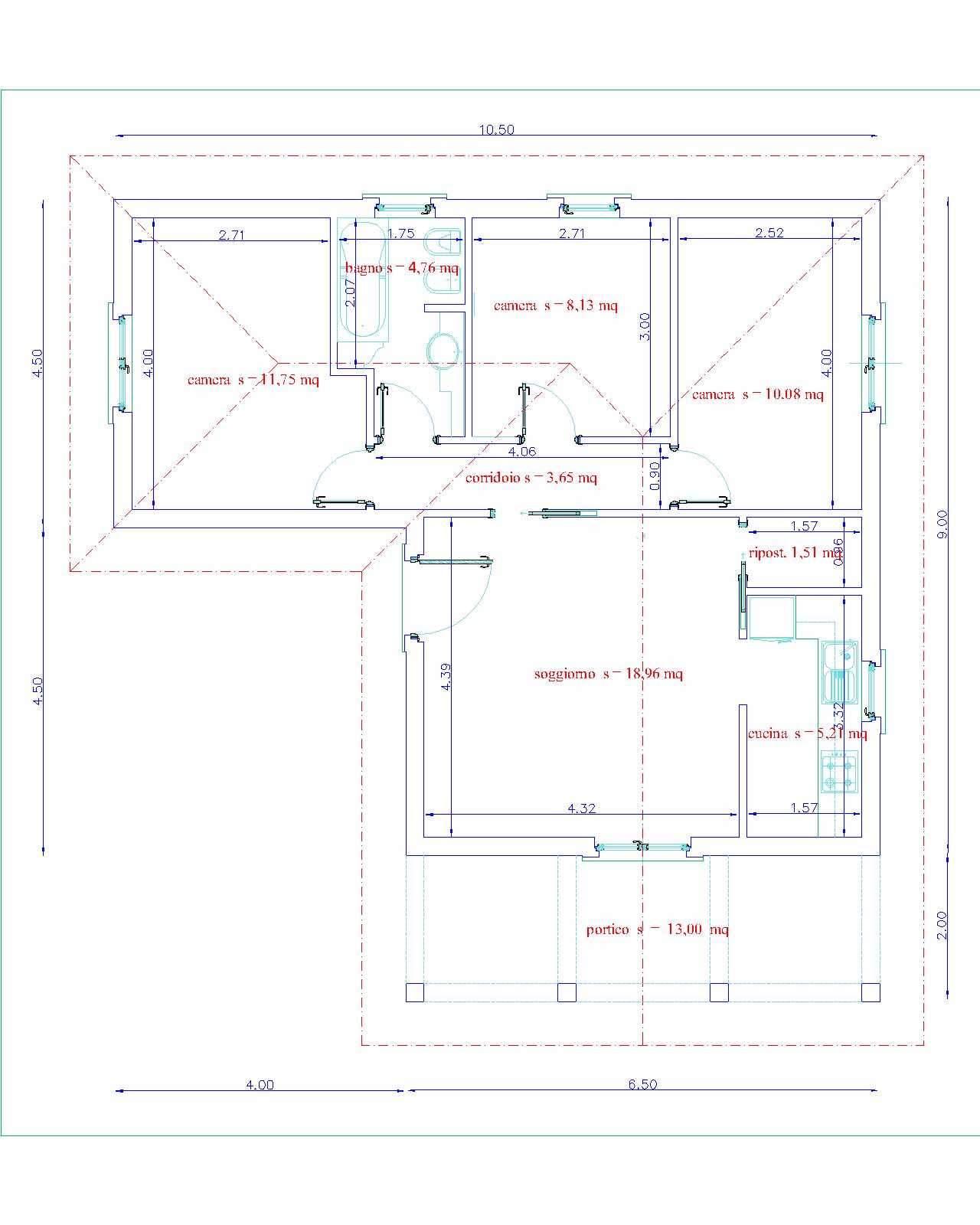 Progetti di case for Progetti di portico anteriore