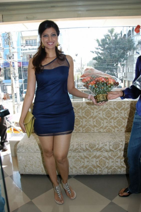 hamsa nandini spicy in blue skirt at food festival photo gallery