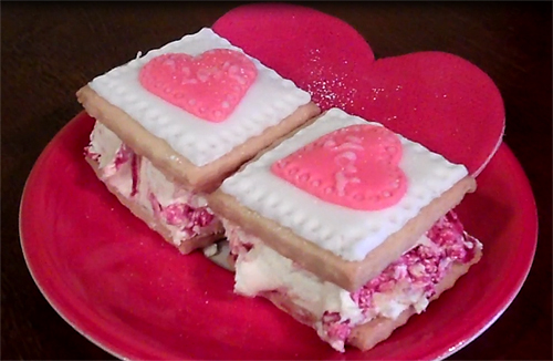 Valentine Sorbet Sandwiches Recipe — Dishmaps