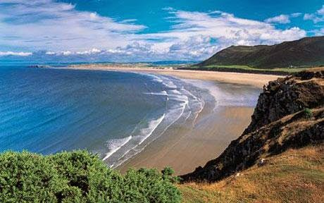 Welsh beach