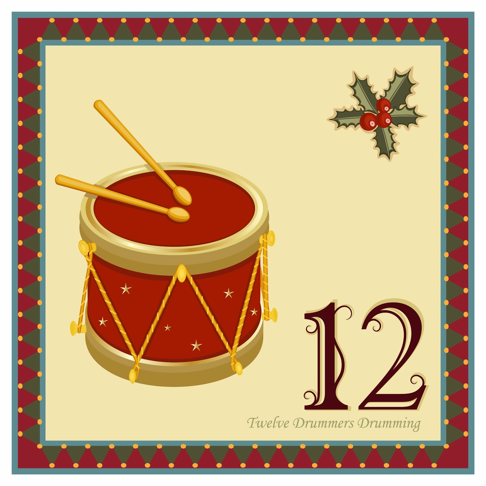 Epic image for 12 days of christmas images printable