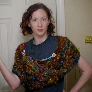 Gratis breipatroon zijden omslagdoek