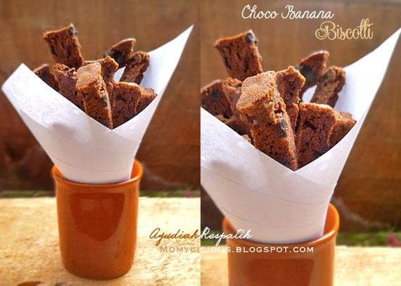 Choco Banana Biscotti