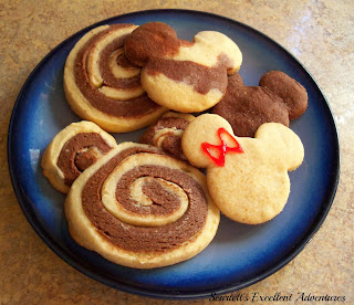 Mickey Mouse Swirl Sugar Cookies from Scarlett's Excellent Adventure