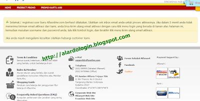 pesan jika anda memasukan kotak form dengan benar alfaonline com
