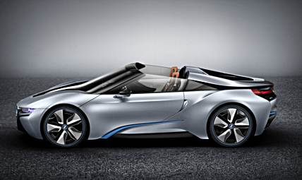 BMW i8 Spyder Concept teased ahead of 2016 CES