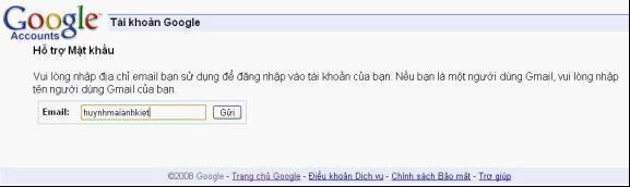 mat khau gmail