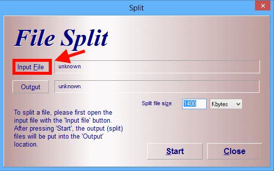 HJ-Split- dividir arquivo