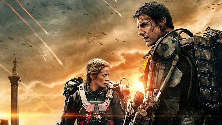 emily blunt as rita and tom cruise as cage in edge of tomorrow 2014