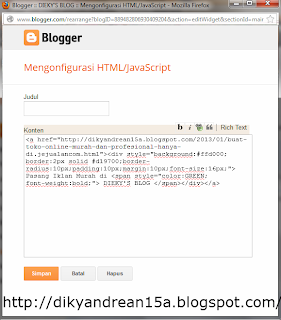 How To Make Elegant Notice On The Blogspot