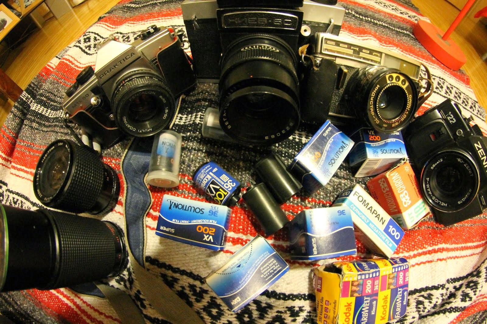 Part of my analog photo cameras