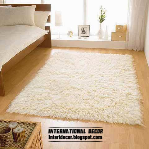white rug and carpet for warm room