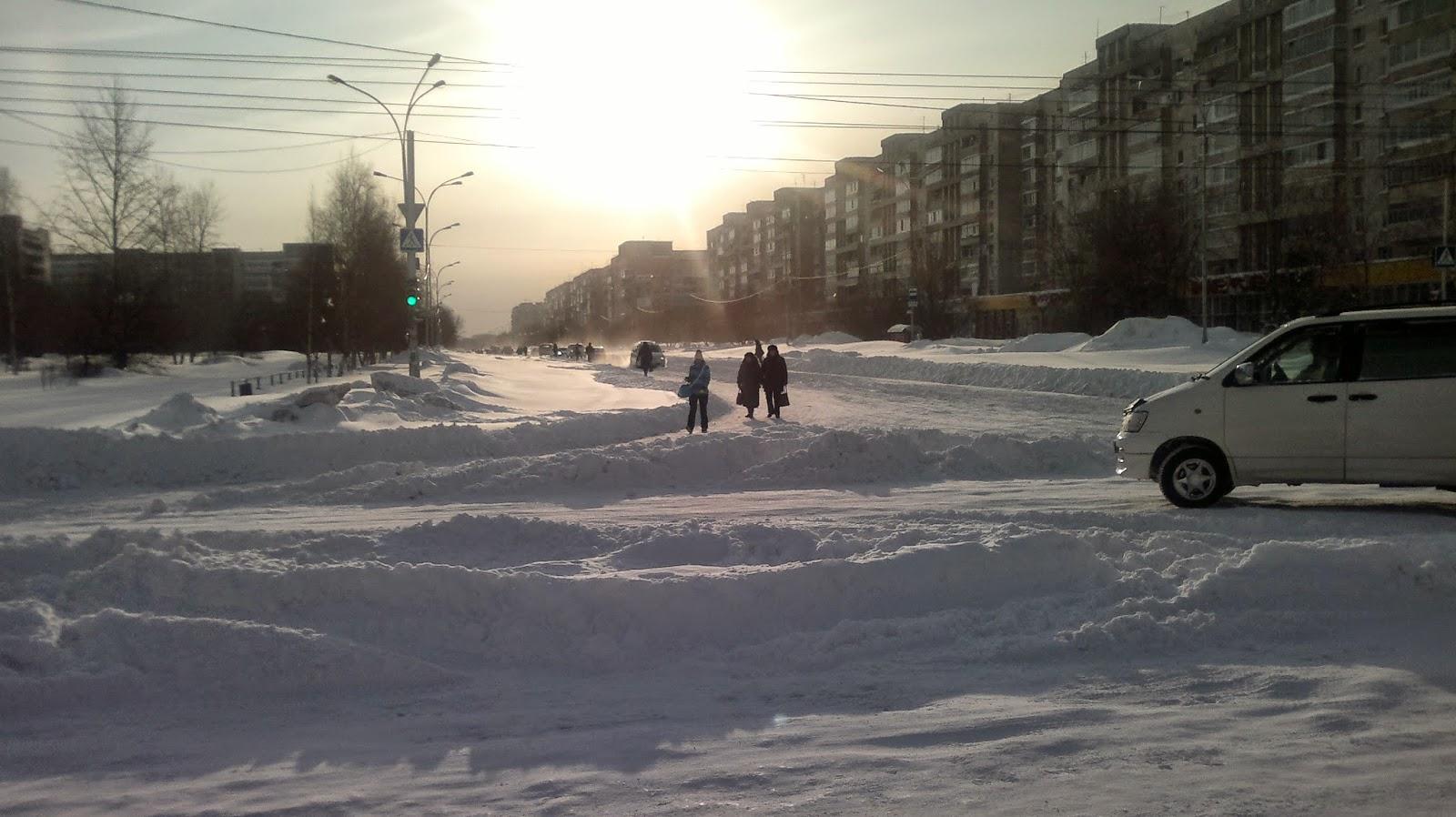 Проспект Первостроителей в Комсомольске-на-Амуре