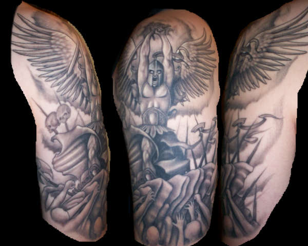 Warrior angel tattoo one of the best tattoos wich i will consider gettin'