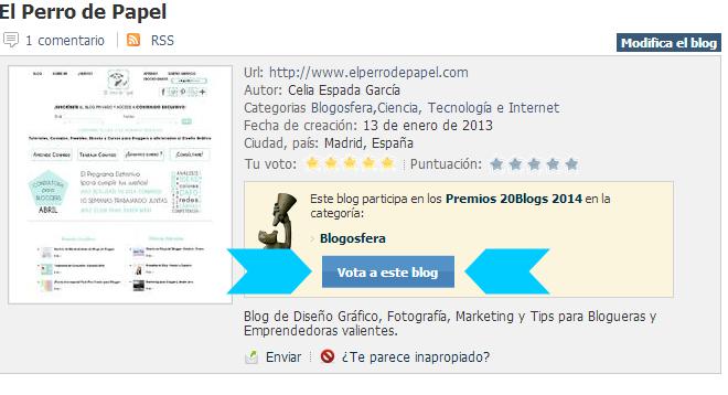 ¡Participo en los Premios 20 Blogs!