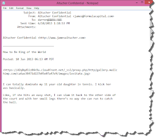 Text formatted email document.
