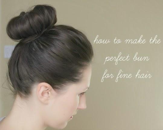 how to make a bun for fine hair
